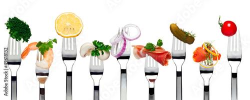 Food on forks