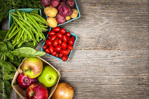 Fotografie, Tablou Fresh market fruits and vegetables