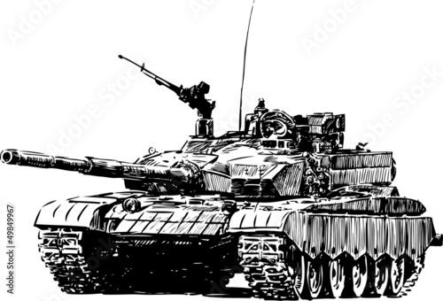 Canvas Print military machine