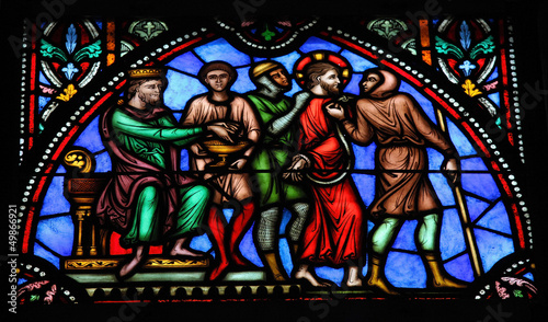 Photo Jesus on Good Friday - Stained Glass