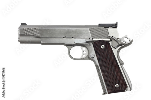 Canvas Print 45 Caliber Handgun