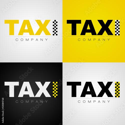 Fotografia, Obraz Logo taxi