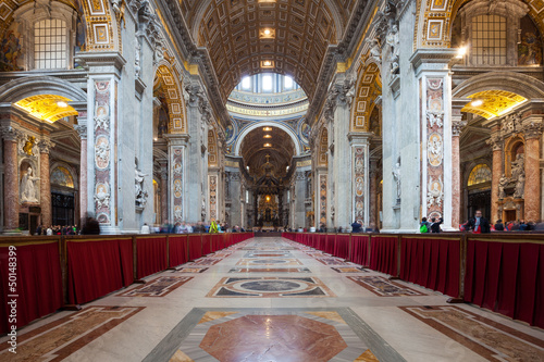 Interior of St. Peters Basilica Poster Mural XXL