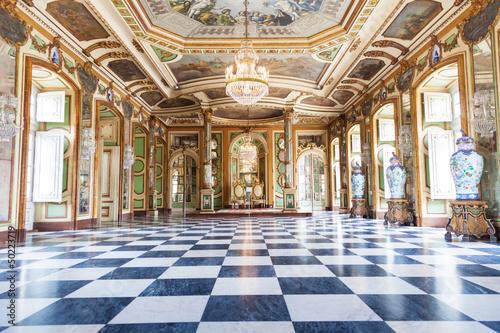 Fototapeta Hall of Ambassadors in Queluz National Palace, Portugal