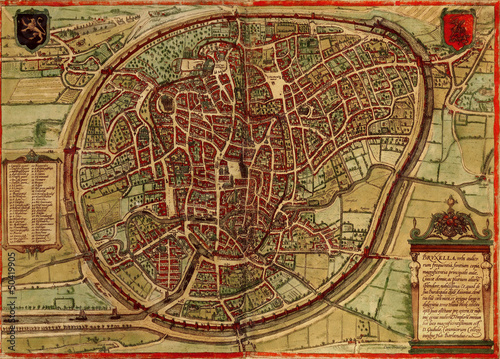 Photo Brusels old map
