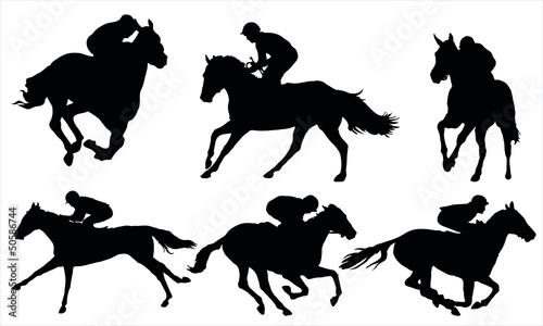 Fotografiet Horse racing
