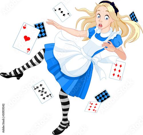 Carta da parati Falling Alice