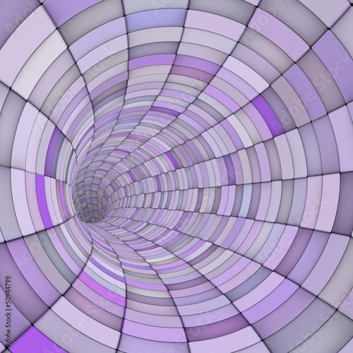 3d odpłacają się dachówkowe tunel drymby w wieloskładnikowych purpurach