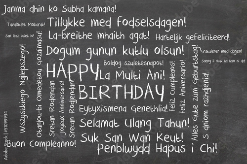 happy birthday word cloud #51099934