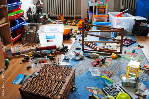 Tapete Chaos im Kinderzimmer