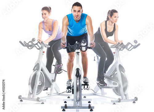 Obraz na plátně Spinning training
