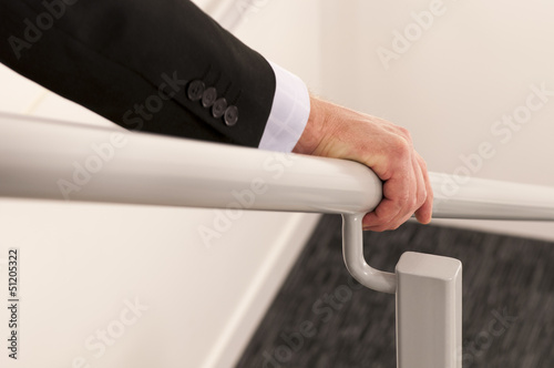 Canvas Print Hold the handrail