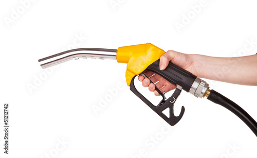 Stampa su Tela Fuel pistol, isolated on white background
