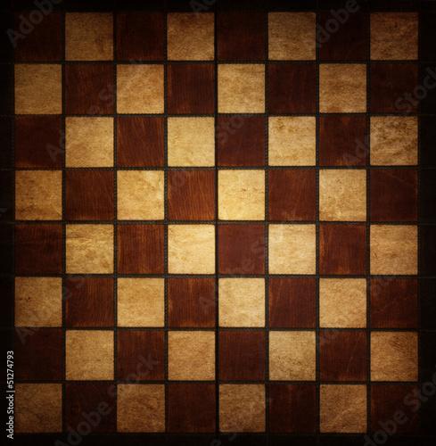 Fotomural vintage chessboard
