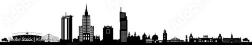 Fototapeta premium Skyline Warszawa