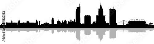 Fototapeta premium Skyline Warszawa Warszawa