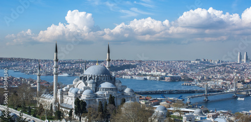 Leinwand Poster Istanbul city view