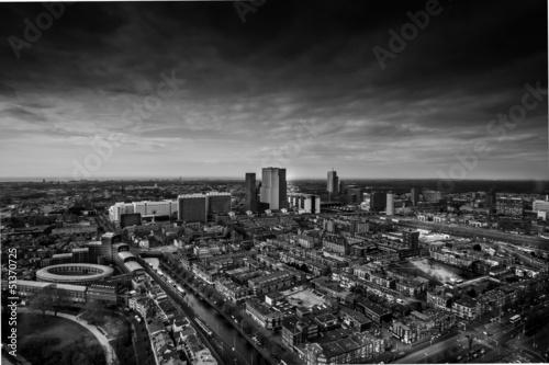 Fototapeta premium Skyline Hagi czarno-biały