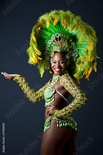 Fotografie, Obraz Brazilský Samba Dancer