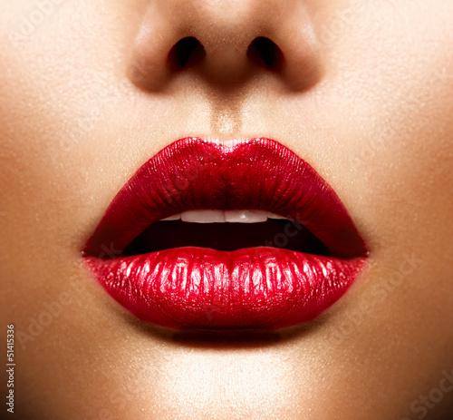 Fotografia Sexy Lips. Beauty Red Lips Makeup