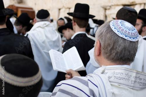 Obraz na płótnie The prayers near Western Wall