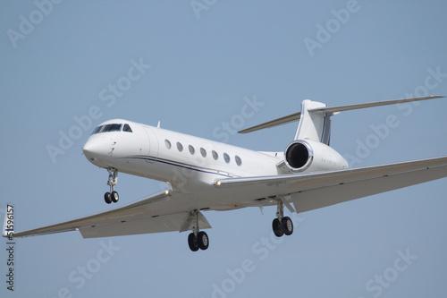 white business jet Fototapet