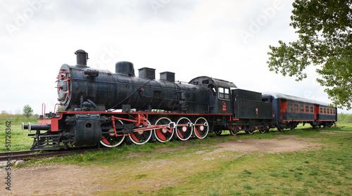 Canvas Print Orient express steam-powered train