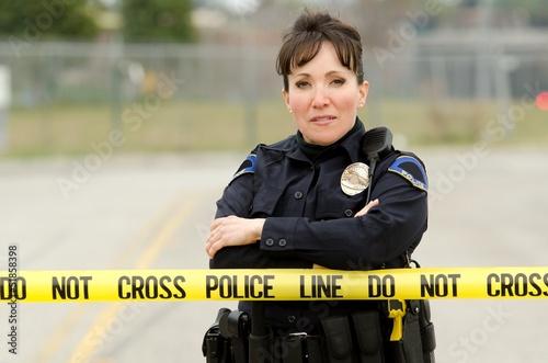 Female officer Fototapeta