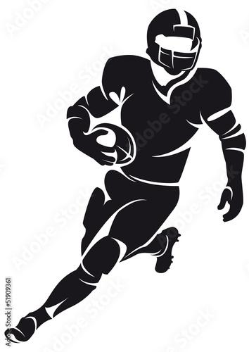 Wallpaper Mural American football player, silhouette