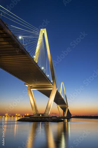 Fototapeta premium Most wiszący Charleston SC Arthur Ravenel, Karolina Południowa