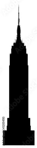 Empire State Building Black Vector Silhouette illustration Fototapet