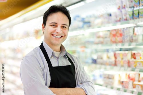 Obraz na płótnie Supermarket employee