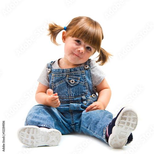 Fototapeta bambina con lecca lecca