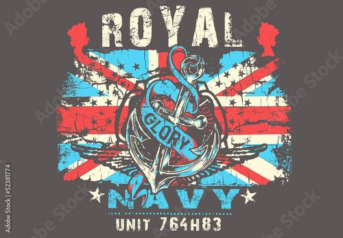 Canvas Print Royal Navy