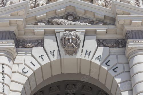 Fényképezés Pasadena City Hall Sign Detail