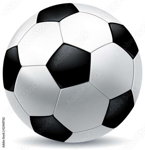 Canvas Print leather soccer ball