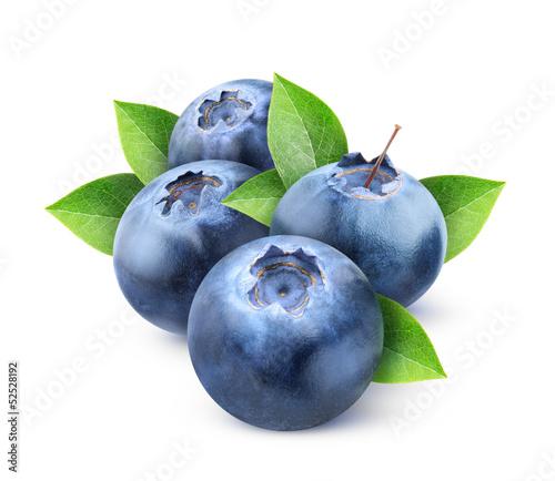 Photo isolated blueberries