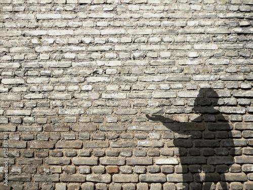 Fotografiet ombre de mendiant