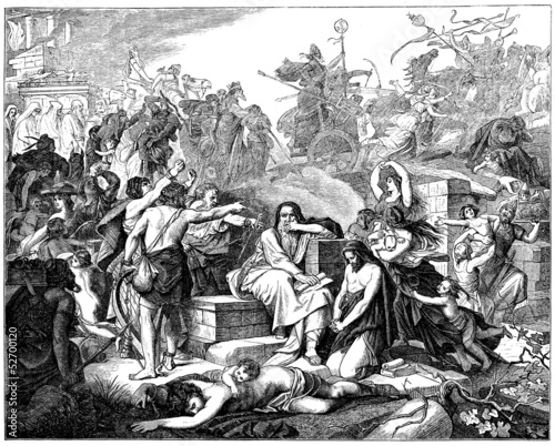 Obraz na płótnie Jews : Exile to Babylon - Biblical Scene