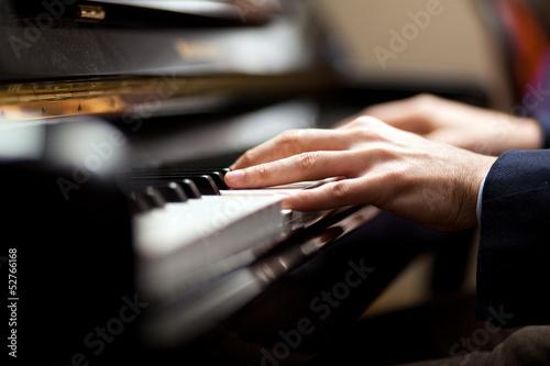 Fotografie, Obraz Pianist playing music
