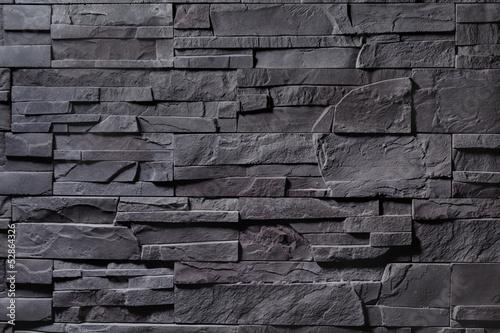 Texture of gray stone wall Fototapeta