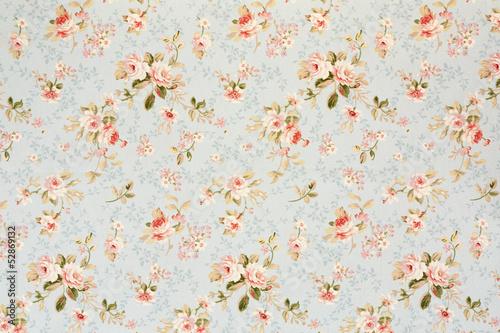 Fototapeta Rose floral tapestry, romantic texture background
