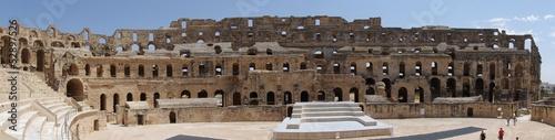 Panorama koloseum w El-Jem Fotobehang