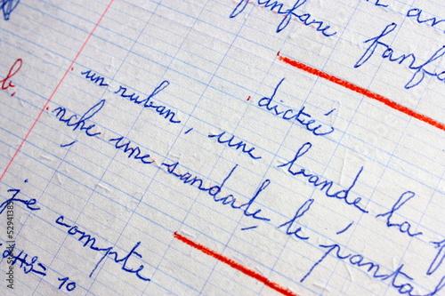 Fotografija dictée de mots ,sans fautes