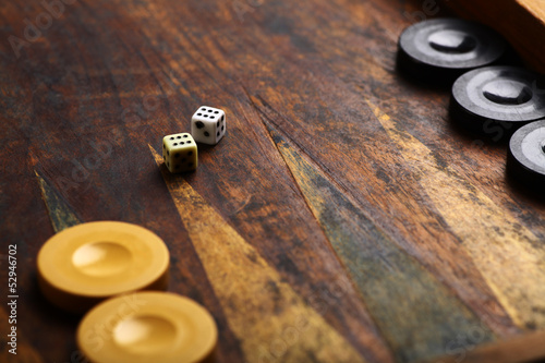 Canvastavla Backgammon