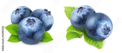 Fotografia, Obraz Isolated blueberries