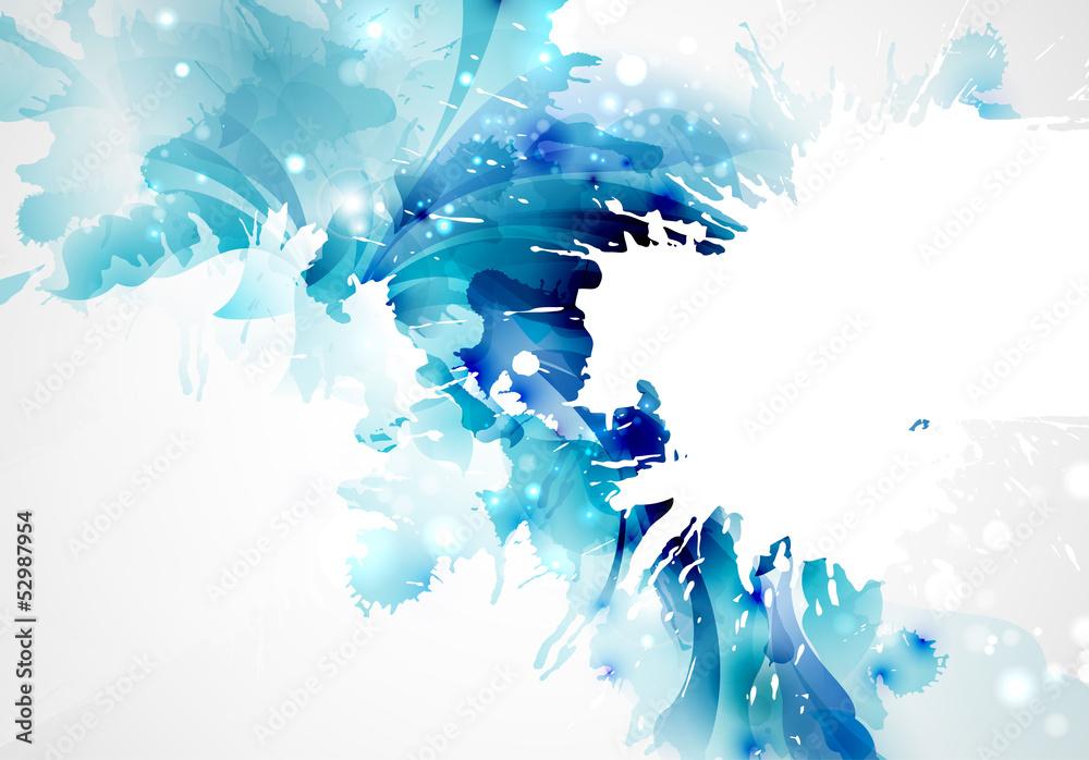Abstrakcjonistyczny artystyczny tło tworzy plamami <span>plik: #52987954 | autor: artant</span>