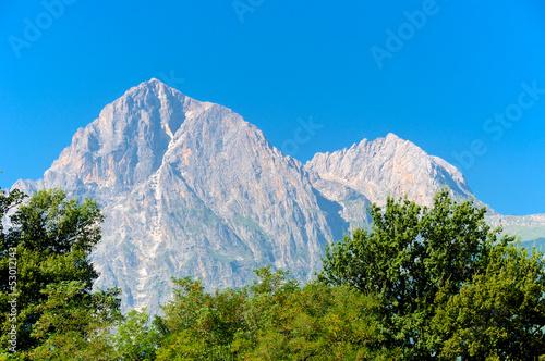 Obraz na plátne Corno Grande, Gran Sasso panoramic view L'Aquila, Italy