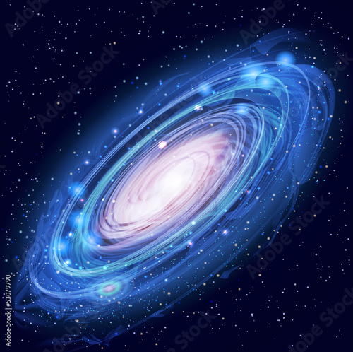 Beautiful Glowing Vector Andromeda Galaxy