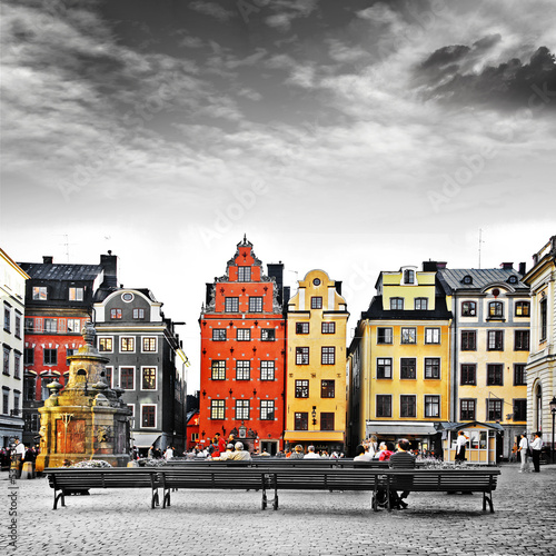 Canvas Print Stockholm, heart of old town,